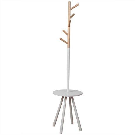 Zuiver Coat rack Rack table tree white, wood white 169xØ40cm