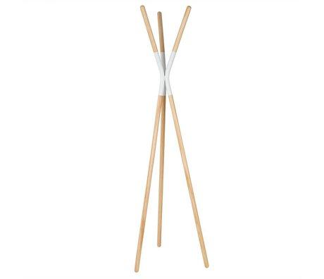 Zuiver Coat Rack Pinnacle blanc, bois 176x59x56cm