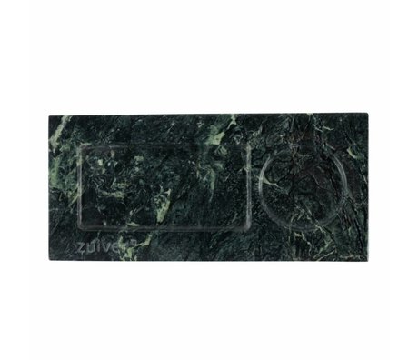 Zuiver Tray green marble, green marble 22x10x1,5cm