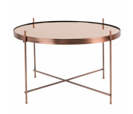 Zuiver Bijzettafel Cupid large copper, metaal koper Ø62,5×40cm