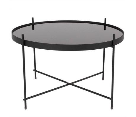 Zuiver Table d'appoint Cupidon grand métal noir Ø62,5 noir × 40cm