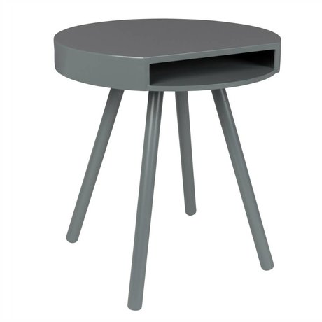 Zuiver Occasional table Hide and seek gray, gray wood Ø46x50cm