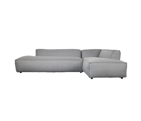 Zuiver Bank Fat Freddy 3seater longchair droit coton gris clair 308x103 / 88x72cm