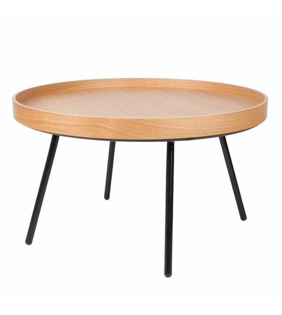 Bijzettafel Van Zuiver.Zuiver Bijzettafel Coffee Table Oak Tray Hout O78x45cm
