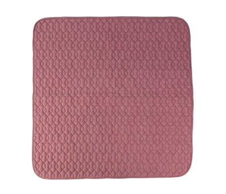 Sebra coton rose couverture 120x120cm
