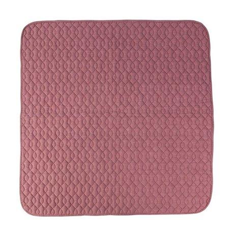 Sebra Deken roze katoen 120x120cm