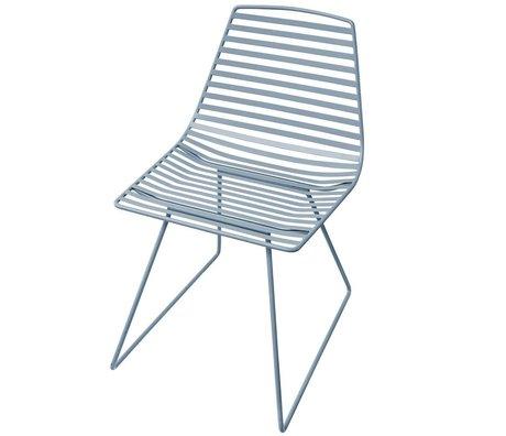 Sebra Chaise en métal bleu L 47x82x48cm