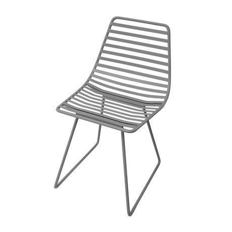 Sebra Chair gray metal S 32x58x33cm