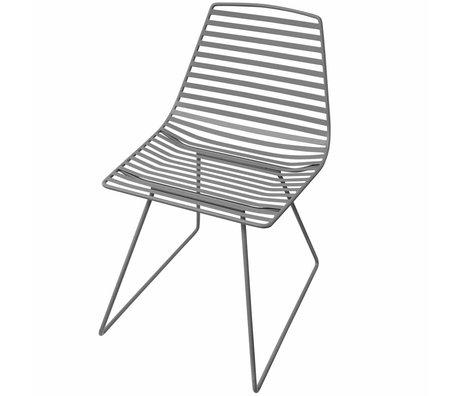 Sebra Chaise métal gris L 47x82x48cm