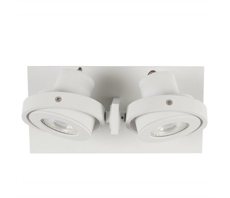 Zuiver Wandlamp DICE-2 LED staal wit 28x12cm