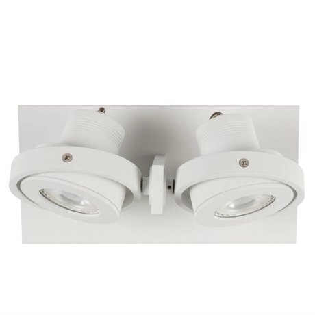 Zuiver Lampe LED mur DICE 2 28x12cm blanc d'acier