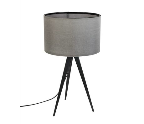 Zuiver Tripod Tischlampe Metall, Textil schwarz grau 28x51cm
