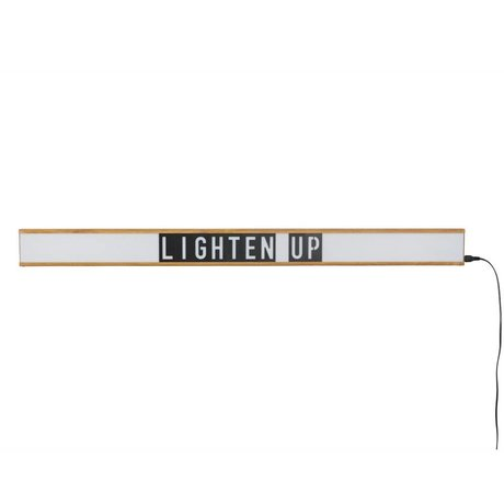 Zuiver Lamp Lightbox Saber white, brown plastic 120x4x10cm