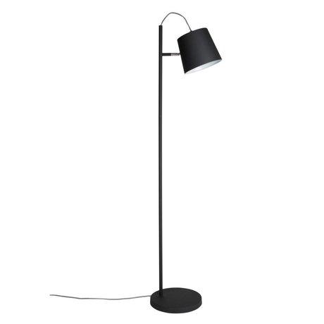 Zuiver Vloerlamp Buckle head black, metaal zwart 150cm