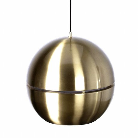 Zuiver Hanging lamp 'Retro 70' gold metal Ø40x37cm