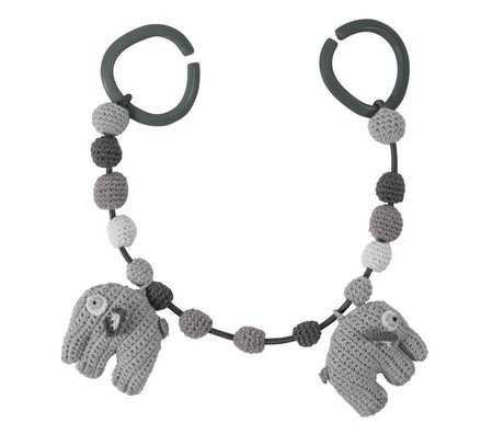 Sebra Elephant car Spanner gray cotton 53cm