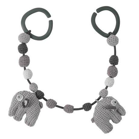Sebra Elephant voiture Spanner coton gris 53cm