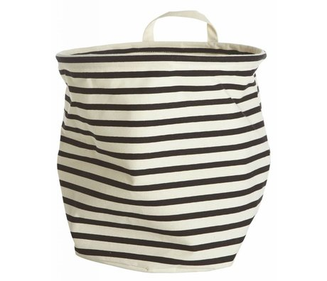 """Housedoctor Entraver le textile """"barre de blanc / noir Ø30x30cm coton / polyester / rayonne"""