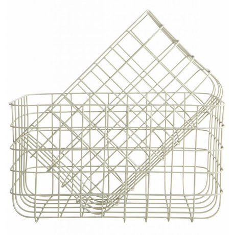 Housedoctor Wire Baskets 'Simply' set of two light gray 24x32x20cm and 28x36x20cm