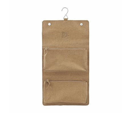 Housedoctor Toiletry Nomadic kraft brun 46x25cm