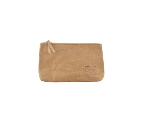 Housedoctor Makeup bag Nomadic kraft brown 20x12x3,5cm