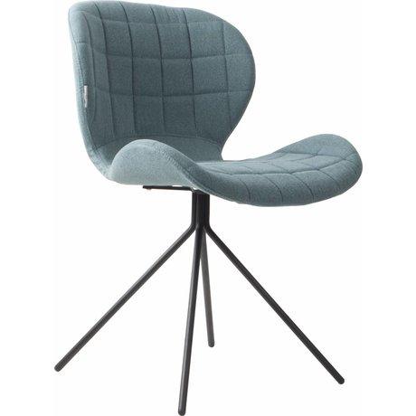Zuiver Salle à manger Chaise OMG 50x56x80cm bleu