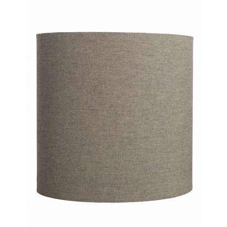 Housedoctor Shade 'Fine' gray / brown cotton Ø30x30cm