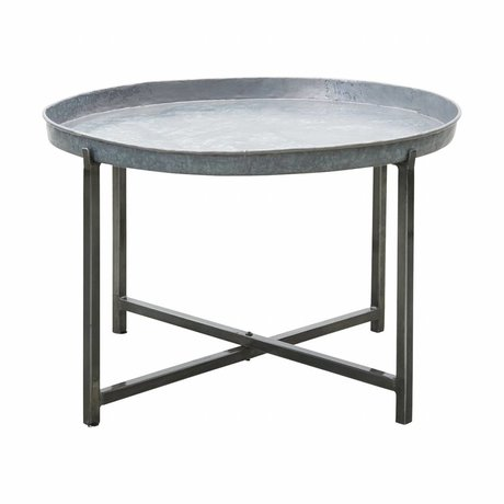 Housedoctor Side table Cool Silver Metal ø70x45cm