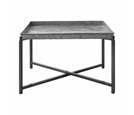 Housedoctor Side table Cool, silver metal 70x70x45cm