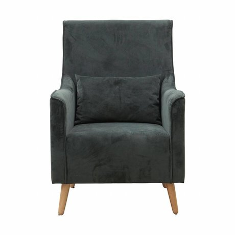 Housedoctor Armchair Chaz green textile wood 68x82x99cm