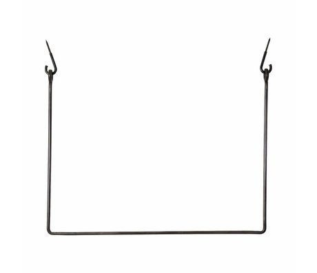 Housedoctor Coat Rack Rack black, black metal 75x100cm