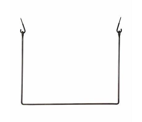 Housedoctor Coat Rack Rack schwarz, schwarz Metall 75x100cm