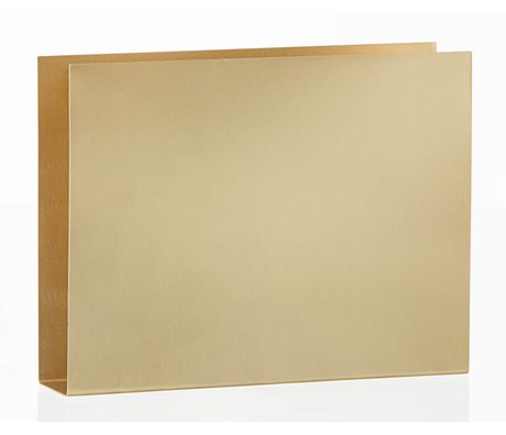 Ferm Living Wandhouder Brass wall square messing 20x15x4cm