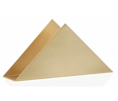 Ferm Living Serviettenhalter Messing Dreieck Stand Messing Metall mit satiniertem Polisch 17x8.5x4.5cm