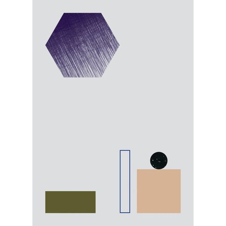 Ferm Living Poster GEOMETRY 2 papier 50x70cm multicolor