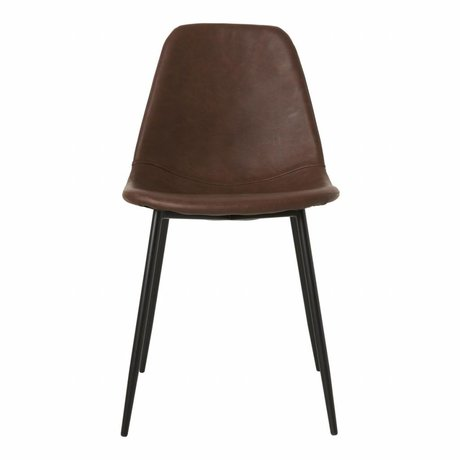 Housedoctor Dining chair Chairforms brown PU leather 43x53x83,5cm