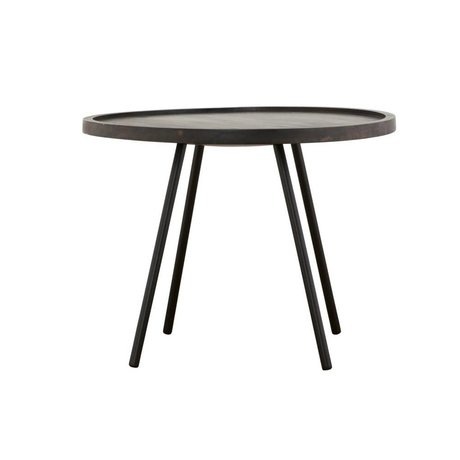 Housedoctor Occasional table Juco black metal timber ø60x45cm
