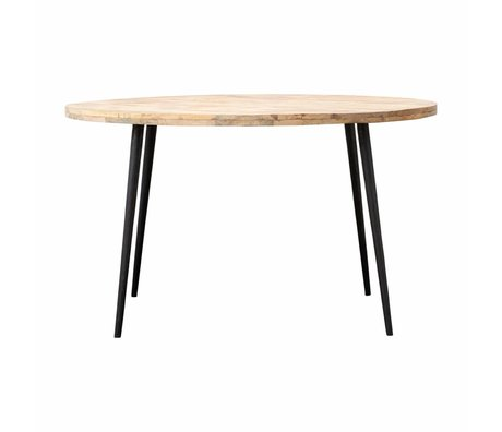 Housedoctor Club table metal timber Ø130x76cm