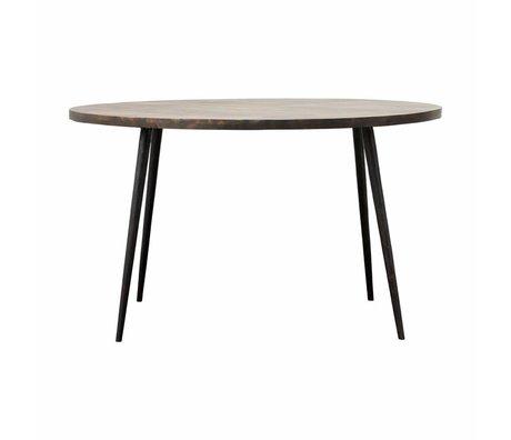 Housedoctor Table Club métal brun Ø130x76cm bois