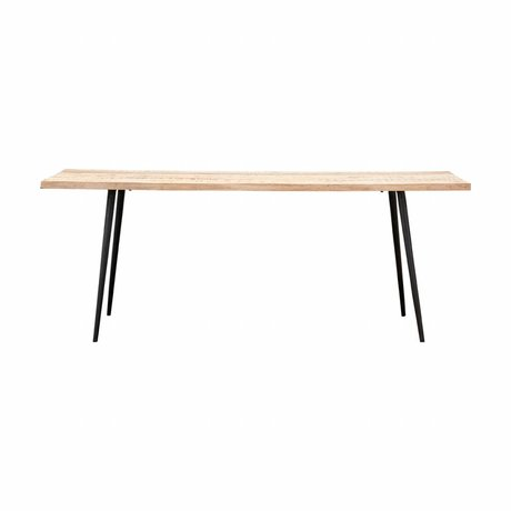 Housedoctor Table Club 80x200x76cm bois métal