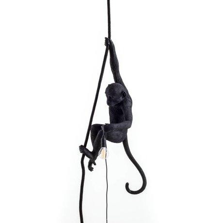 Seletti Der Affe Hängelampe aus schwarzem Nylon 27x30x80cm