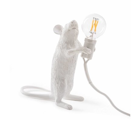 Seletti Table lamp Mouse white plastic 6.2x8.1x14.5cm