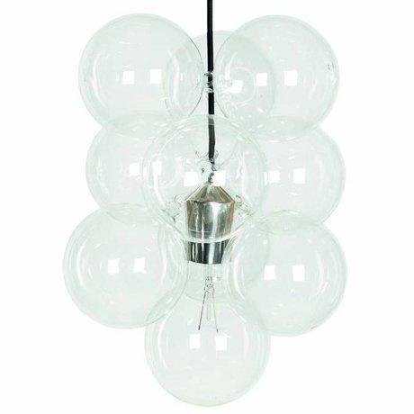 Housedoctor Lampe suspendue DIY argent 12 boules de verre 48x30cm