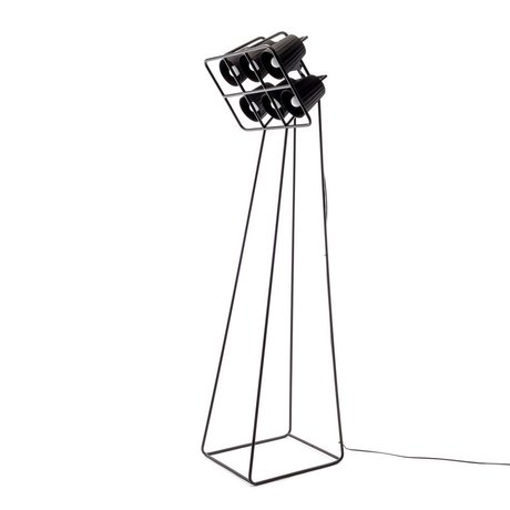 Seletti Multi Floor Lamp Floor Lamp black metal 53x51x180cm