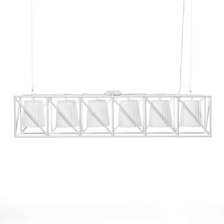 Seletti Hanglamp Multilamp Line wit metaal 103x22x22cm
