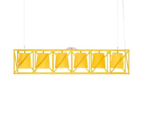 Seletti Hanging Lamp Lamp Multi Line yellow metal 103x22x22cm