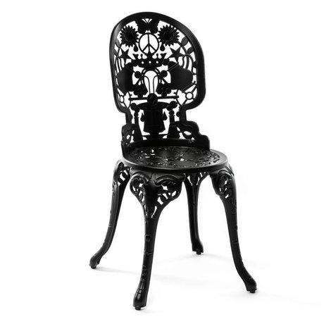 Seletti Stuhl Industrie schwarz Aluminium 40x40x92cm