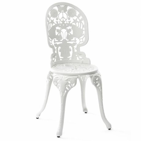 Seletti Industry Chair white aluminum 40x40x92cm
