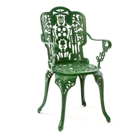 Seletti Industry Chair green aluminum 52x55x94cm