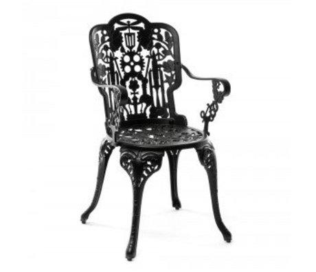 Seletti Chair Industry black aluminum 52x55x94cm